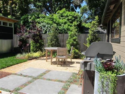 small garden seating area contemporary landscape san