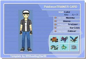 Pokemon Trainer Luke Card By Gutterball34 On Deviantart
