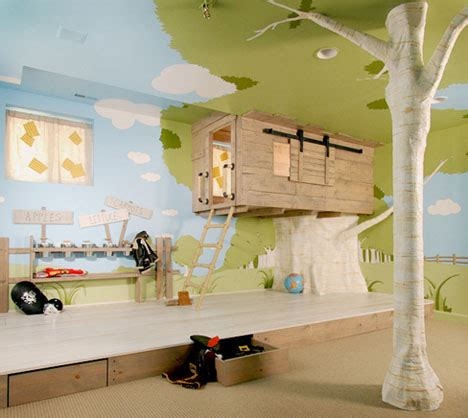 cool interior tree home  kids bedroom design  designs ideas  dornob