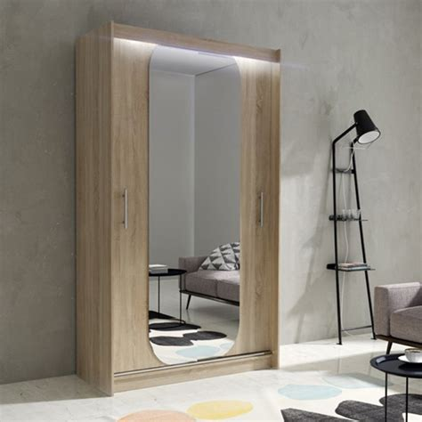 Wardrobe Hanging Mirror by Wardrobe Hanging Rail Sliding Door Mirror Led Light