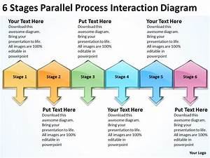 Business Flow Chart Process Interaction Diagram Powerpoint