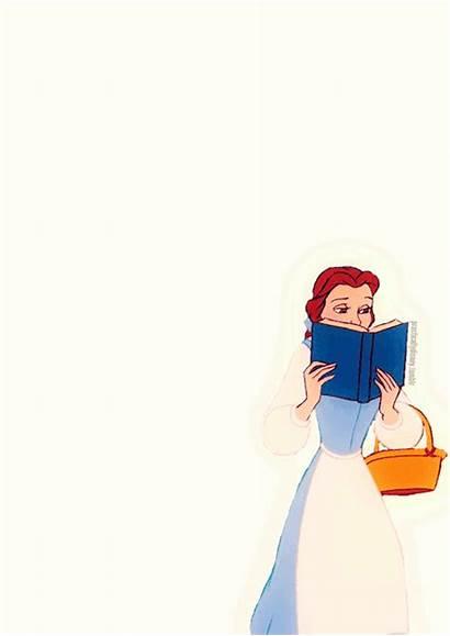 Belle Disney Princess Lendo Bela Gifs Lexi