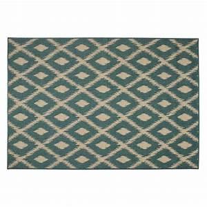 tapis d39exterieur en polypropylene vert 160 x 230 cm With tapis exterieur avec canapé bleu vert