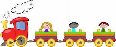 Train Choo Clipart Clip Ride Cartoon Vector