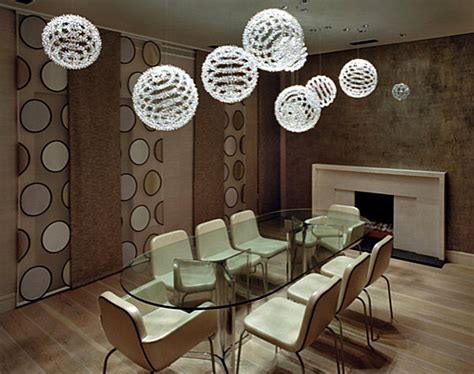 Modern Dining Room Lighting by Modern Dining Room With Dramatic Lighting