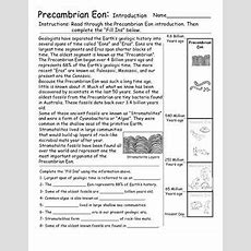 Geologic Time  Eon And Eras Introduction Activities  Worksheets   Science • High School