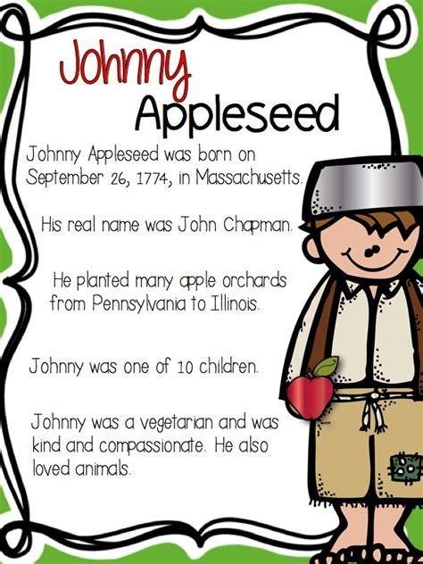 All About Johnny Appleseed | Johnny appleseed, Apple seeds ...