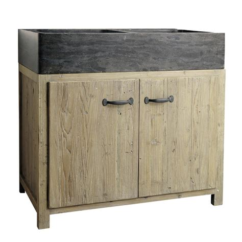 mobile con lavello da cucina mobile basso da cucina in legno riciclato con lavello l 90