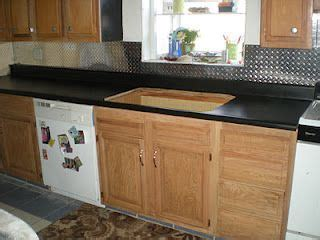 Diamond Plate Backsplash! so doing this in my kitchen