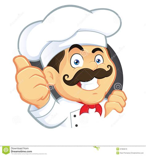 chef en cuisine chef cuisine clipart