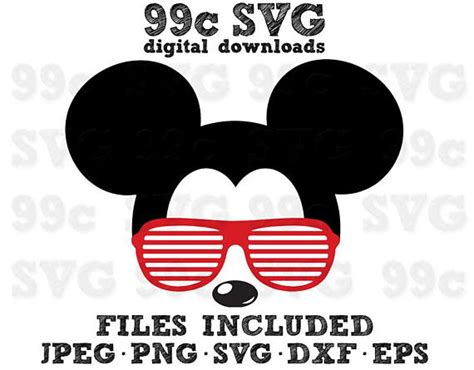 Browse our mickey sunglasses svg collection for the very best in custom shoes, sneakers, apparel, and accessories by independent artists. Mickey Mouse Sunglasses SVG DXF Png Vector Cut File Cricut