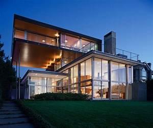 Maison En Verre De Design Moderne