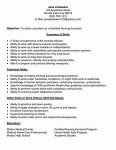 Cna resume samples with no experience free resumes tips for Free cna resume samples