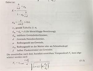Prozentanteil Berechnen : beanspruchung der schraube und des gewindes wissenstransfer anlagen und maschinenbau ~ Themetempest.com Abrechnung
