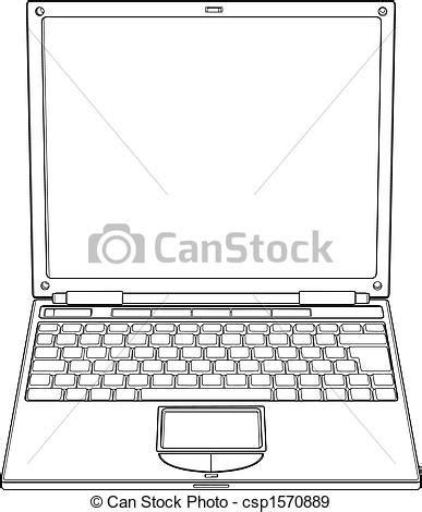 horloge bureau pc vecteurs eps de ordinateur portable vecteur contour