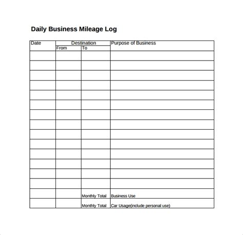 sle travel log template 9 free documents in pdf