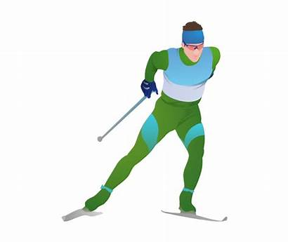 Skier Cross Vector Country Ski Winter Skiing