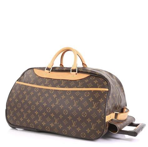 louis vuitton eole  duffel carry   wheels monogram coated canvas weekendtravel bag