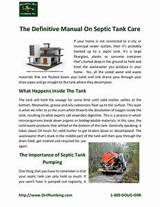 The Definitive Manual On Septic Tank Care