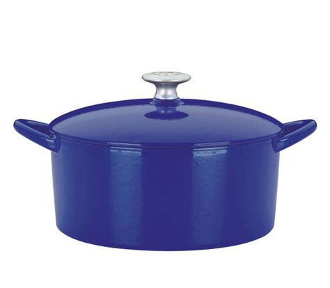 mario batali enameled cast iron  dutch oven  quart cobalt cutlery