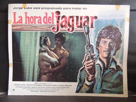 leticia perdigon la hora del jaguar cartel lobby card
