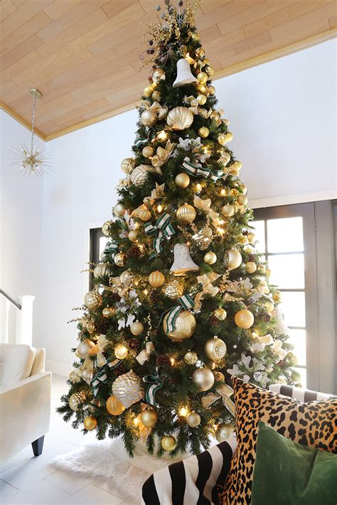 decorate   ft christmas tree  gold tones