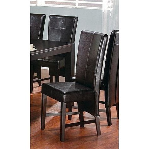 black friday set of 2 contemporary style brown parson