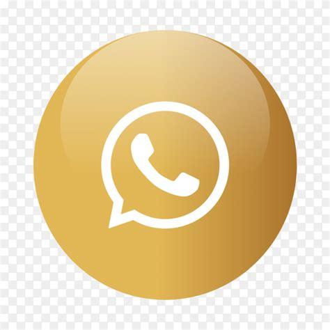 Whats-app logo popular media in gold circle PNG - Similar PNG