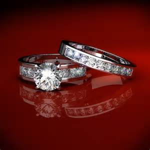 band engagement rings wedding ring sets