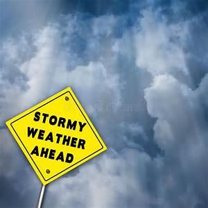 Stormy Weather Ahead Illustration Stock Illustration ...