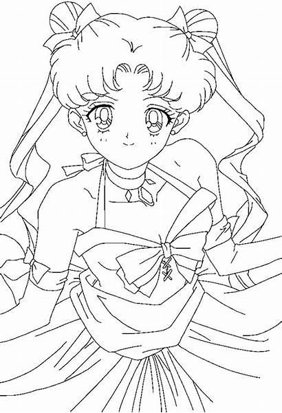 Coloring Pretty Deviantart Pages Usagi Moon Sailor