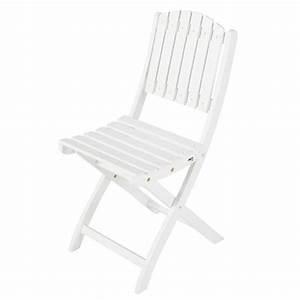Chaise De Jardin Blanche : chaise de jardin en acacia blanche port blanc maisons du ~ Dailycaller-alerts.com Idées de Décoration