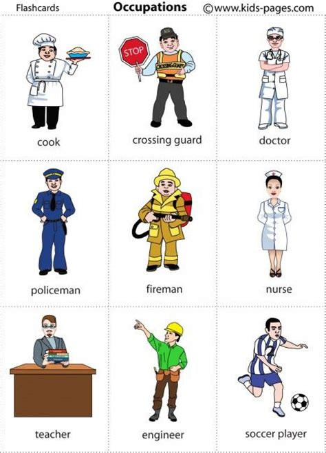 Several Occupation Printables For Posters Or Game Cards  Community Workers For Preschool