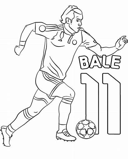 Coloring Bale Pages Gareth Football Players Athletes