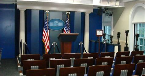 white house press briefing room    hostile