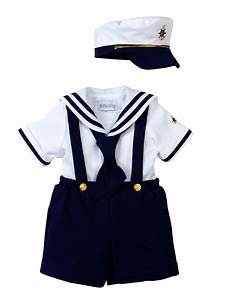 Spring Notion Spring Notion Baby Toddler Boys Nautical Navy Blue Sailor Dress with Hat