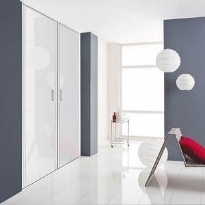 Porte De Placard Pivotante : fa ade de placard pivotante 1 porte d cor blanc mat kazed ~ Farleysfitness.com Idées de Décoration