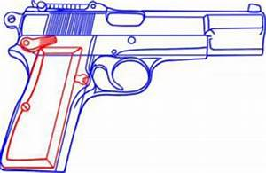 Jak Narysowa Pistolet 2 Krok Po Kroku Rysowanie Pistoletu 2