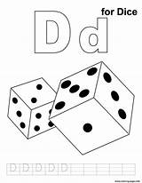 Dice Printable Coloring Alphabet Pages Print Template Prints sketch template