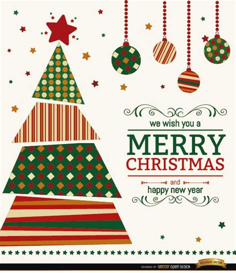 christmas tree wishes background free vector