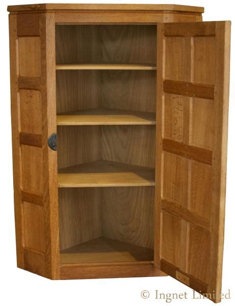 Small Wall Cupboard by Robert Mouseman Thompson Modern Small Oak Corner Wall