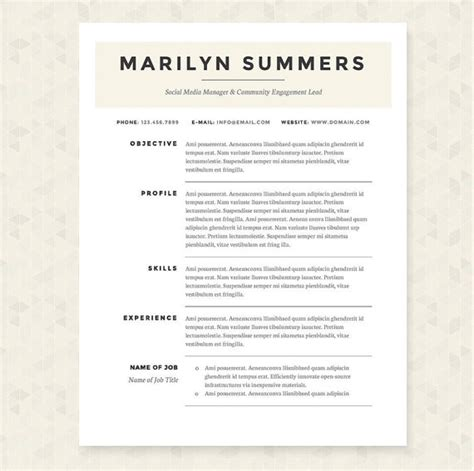 classic resume cover letter references template package