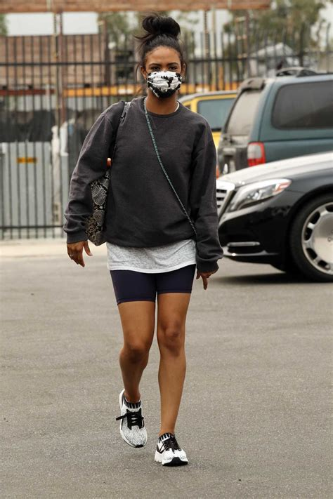 Britt Stewart in a Black Sneakers Arrives at Practice at ...