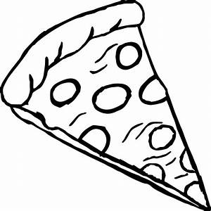 Pepperoni Pizza Coloring Page | Wecoloringpage