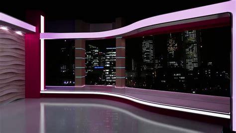 news tv studio set stock footage video  royalty