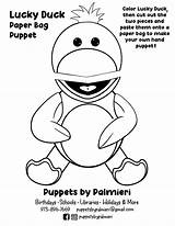 Puppet Duck Lucky Pag Coloring Sheet sketch template