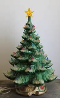 large elegant vintage atlantic mold ceramic christmas tree