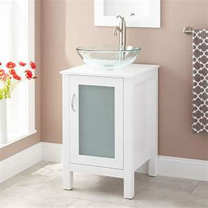 19quot claxton vessel sink vanity white bathroom for White vanity cabinets for bathrooms