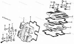 Honda Motorcycle 1984 Oem Parts Diagram For Cylinder Head