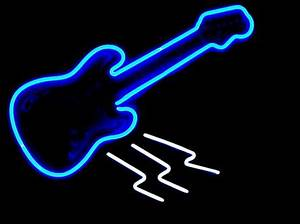 Second Life Marketplace TA Blue Neon Guitar